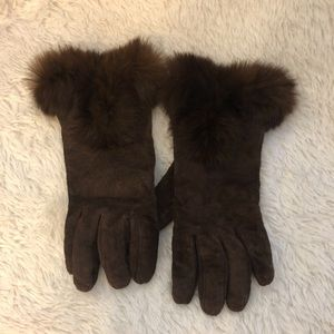 Accessories - RABBIT FUR CUFF & GENUINE LEATHER GLOVES